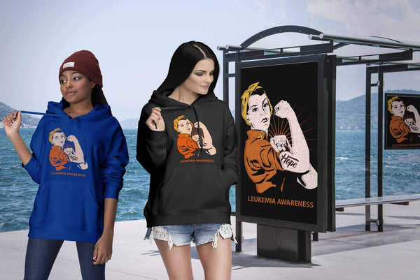 Hope We Can Do It Leukemia Awareness Awesome Cool Unisex Hoodie-T-shirt-JoyHip.Com
