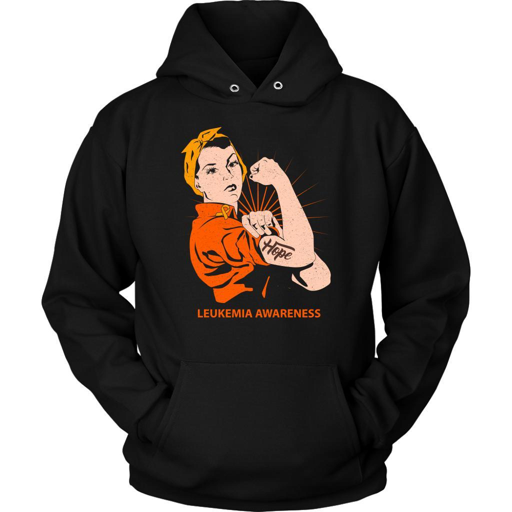Hope We Can Do It Leukemia Awareness Awesome Cool Unisex Hoodie-T-shirt-Unisex Hoodie-Black-JoyHip.Com