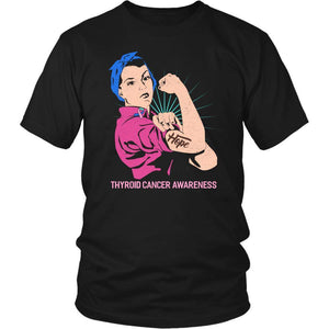 Hope We Can Do It Thyroid Cancer Awareness Awesome Cool Gift Ideas TShirt-T-shirt-District Unisex Shirt-Black-JoyHip.Com