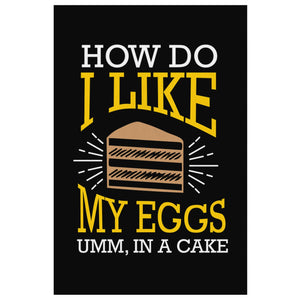 How Do I Like My Eggs Umm In A Cake Canvas Wall Art Room Decor Funny Gifts Humor-Canvas Wall Art 2-8 x 12-JoyHip.Com