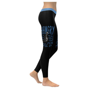 Hungry+Angry=Hangry Humor Hilarious Gag Funny Quotes UPF40+ Womens Leggings-XXS-Black-JoyHip.Com
