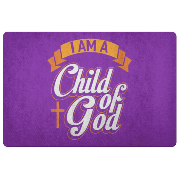 I Am A Child Of God 18X26 Door Mat Unique Christian Gift Ideas Religious Present-Doormat-Purple-JoyHip.Com