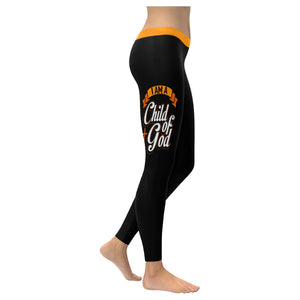 I Am A Child Of God Soft Leggings For Women Cute Funny Christian Gift Religious-XXS-Black-JoyHip.Com