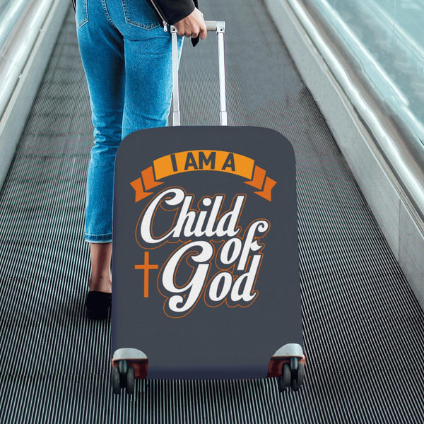 "I Am Child Of God Christian Travel Luggage Cover Suitcase Protector Fit 18""-28""-JoyHip.Com"