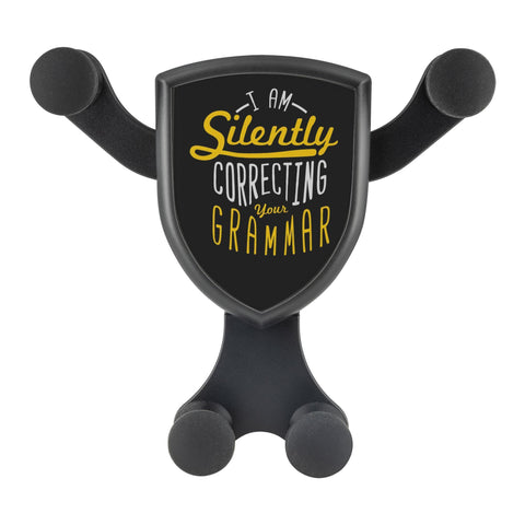 I Am Silently Correcting Your Grammar Qi Wireless Car Charger Mount Funny Gift-Gravitis Car Charger-Gravitis - Wireless Car Charger-JoyHip.Com