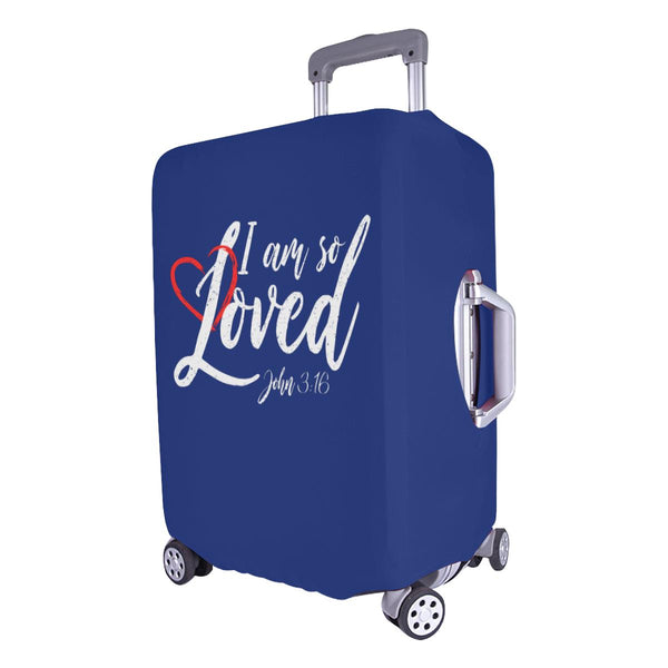 I Am So Loved John3:16 Christian Travel Luggage Cover Suitcase Protector-JoyHip.Com