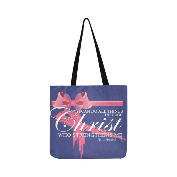I Can Do All Thing Through Christ Breast Cancer Grocery Reusable Produce Bags-One Size-Orchid-JoyHip.Com