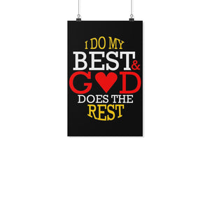 I Do My Best & God Does The Rest Christian Poster Wall Art Room Decor Gift Idea-Posters 2-11x17-JoyHip.Com