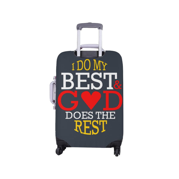 I Do My Best God Does The Rest Christian Travel Luggage Cover Suitcase Protector-JoyHip.Com