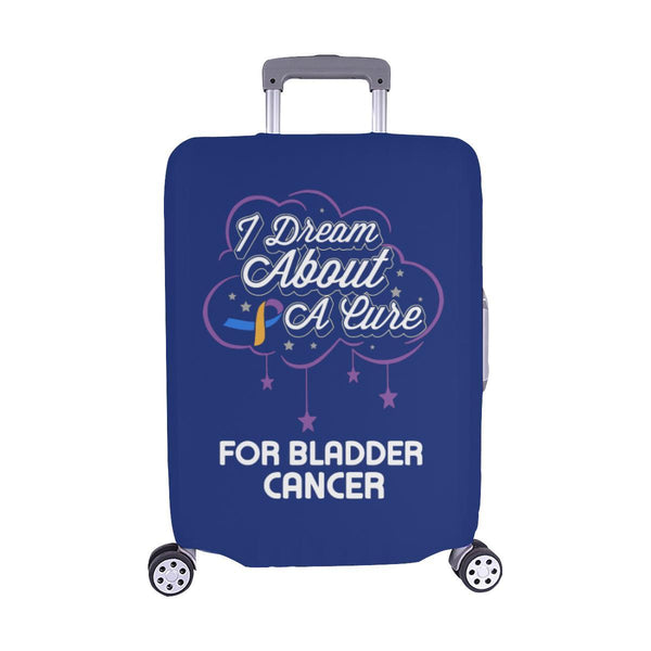 I Dream About A Cure For Bladder Cancer Travel Luggage Cover Suitcase Protector-M-Navy-JoyHip.Com