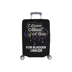 I Dream About A Cure For Bladder Cancer Travel Luggage Cover Suitcase Protector-S-Black-JoyHip.Com