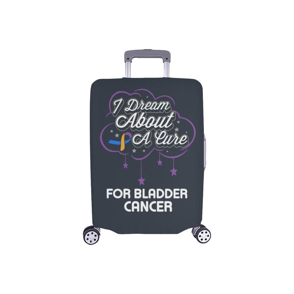 I Dream About A Cure For Bladder Cancer Travel Luggage Cover Suitcase Protector-S-Grey-JoyHip.Com