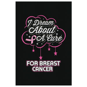 I Dream About A Cure For Breast Cancer Canvas Wall Art Room Decor Home Gift Idea-Canvas Wall Art 2-8 x 12-JoyHip.Com