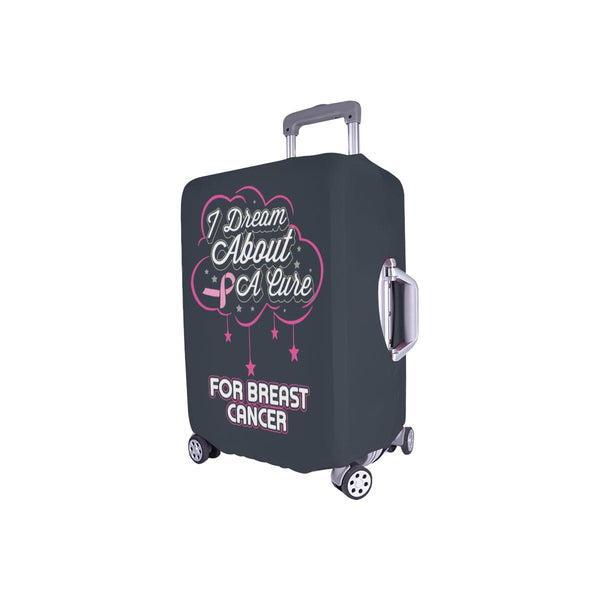I Dream About A Cure For Breast Cancer Travel Luggage Cover Suitcase Protector-JoyHip.Com