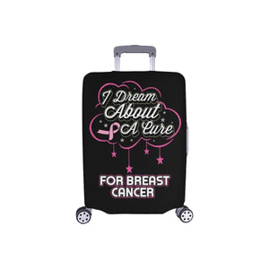 I Dream About A Cure For Breast Cancer Travel Luggage Cover Suitcase Protector-S-Black-JoyHip.Com