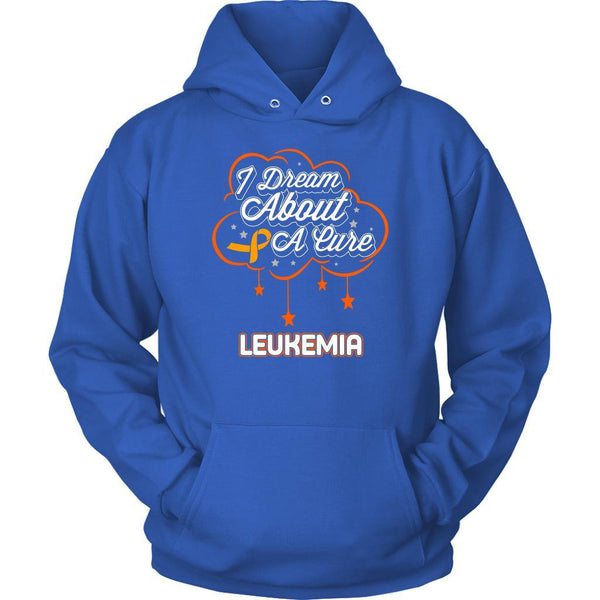 I Dream About A Cure For Leukemia Awareness Orange Ribbon Hoodie-T-shirt-Unisex Hoodie-Royal Blue-JoyHip.Com