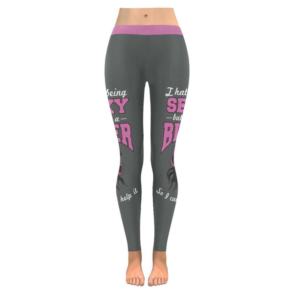 I Hate Being Sexy But Im A Biker So I Cant Help It Motorcycle Womens Leggings-JoyHip.Com