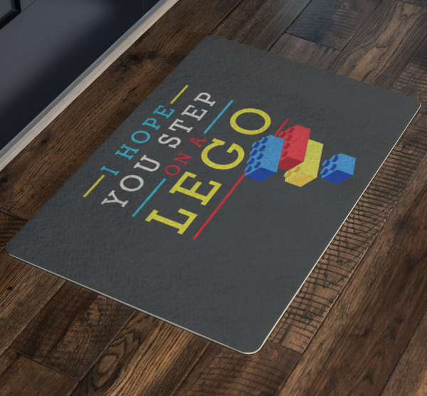 I Hope You Step On A Lego 18X26 Door Mat Funny Gift Ideas Sarcastic Humor Snarky-Doormat-JoyHip.Com