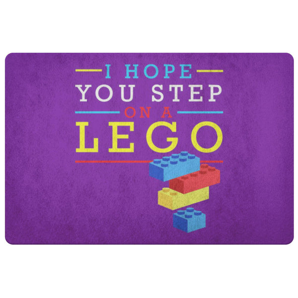 I Hope You Step On A Lego 18X26 Door Mat Funny Gift Ideas Sarcastic Humor Snarky-Doormat-Purple-JoyHip.Com