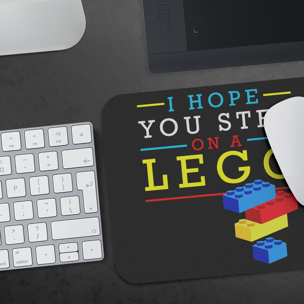 I Hope You Step On A Lego Mouse Pad Unique Snarky Funny Humor Gift Ideas Sarcasm-Mousepads-JoyHip.Com