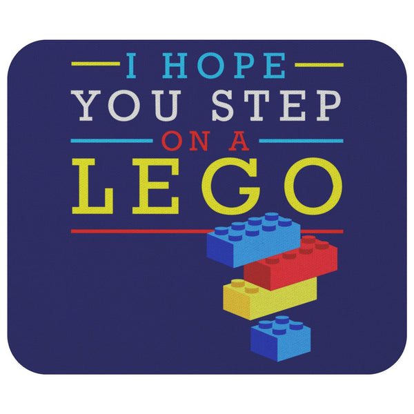 I Hope You Step On A Lego Mouse Pad Unique Snarky Funny Humor Gift Ideas Sarcasm-Mousepads-Navy-JoyHip.Com