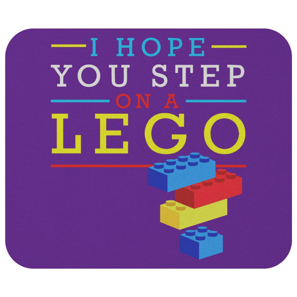 I Hope You Step On A Lego Mouse Pad Unique Snarky Funny Humor Gift Ideas Sarcasm-Mousepads-Purple-JoyHip.Com