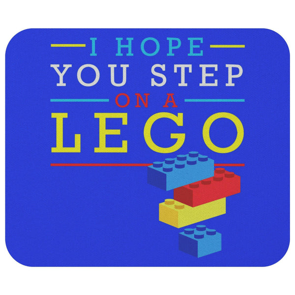 I Hope You Step On A Lego Mouse Pad Unique Snarky Funny Humor Gift Ideas Sarcasm-Mousepads-Royal Blue-JoyHip.Com