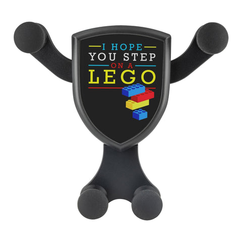 I Hope You Step On A Lego Qi Wireless Car Charger Mount Funny Gift Ideas Humor-Gravitis Car Charger-Gravitis - Wireless Car Charger-JoyHip.Com