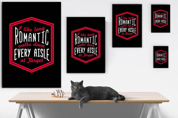 I Like Long Romantic Walks Down Every Aisle At Target Canvas Wall Art Room Decor-Canvas Wall Art 2-JoyHip.Com