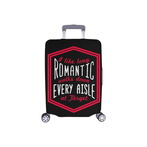 I Like Long Romantic Walks Down Every Aisle At Target Funny Luggage Cover Gifts-S-Black-JoyHip.Com