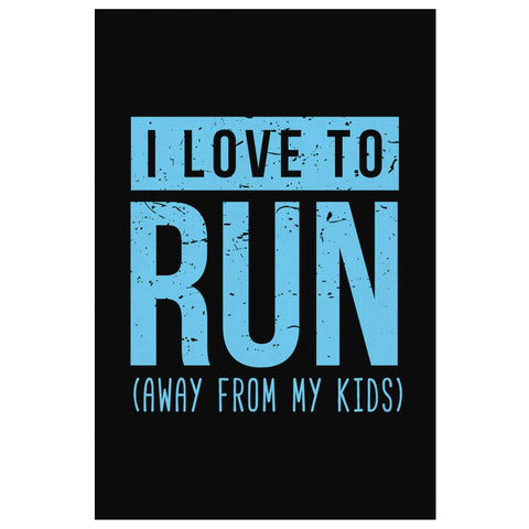 I Love To Run Away From My Kids Funny Cute Mother Day Canvas Wall Art Room Decor-Canvas Wall Art 2-8 x 12-JoyHip.Com