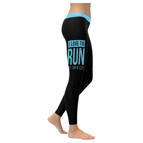 I Love To Run Away From My Kids Soft Leggings For Women Cute Funny Mothers Day-XXS-Black-JoyHip.Com