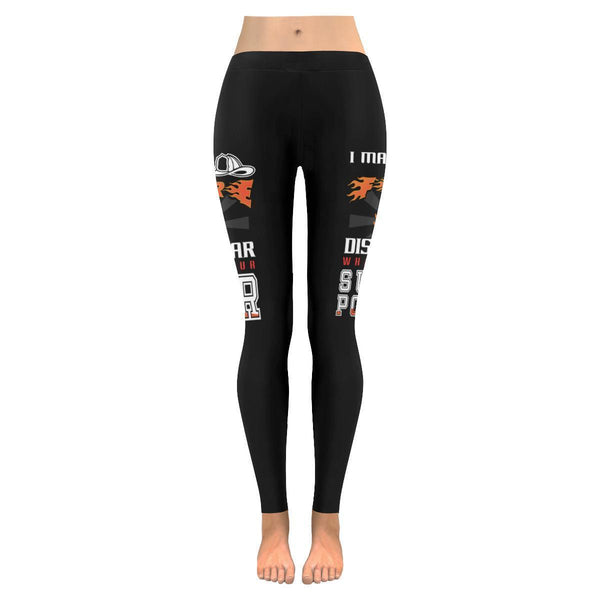 I Make Fire Disappear Whats Your Superpower Firefighter UPF40+ Womens Leggings-JoyHip.Com