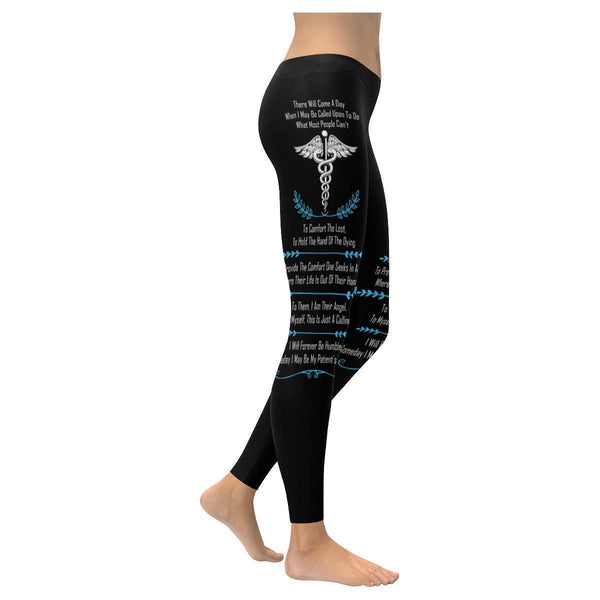 I May Be Called Upon To Do What Most People Cant EMT Paramedics Womens Leggings-XXS-Black-JoyHip.Com