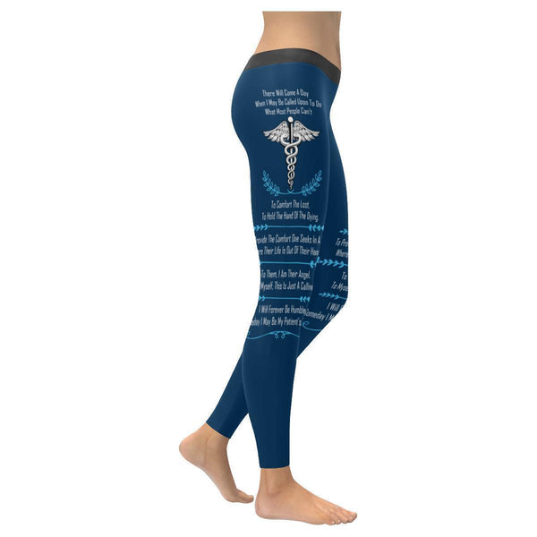 I May Be Called Upon To Do What Most People Cant EMT Paramedics Womens Leggings-XXS-Navy blue-JoyHip.Com
