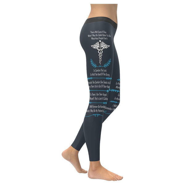I May Be Called Upon To Do What Most People Cant EMT Paramedics Womens Leggings-XXS-Navy grey-JoyHip.Com