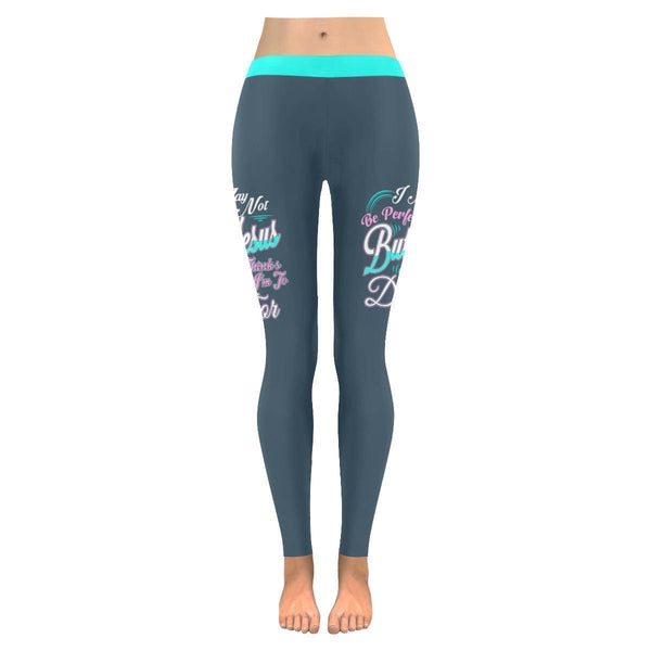 I May Not Be Perfect But Jesus Thinks Im To Die For Christian Womens Leggings-JoyHip.Com