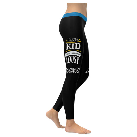 I Raised A Kid & All I Got Was This Lousy Soft Leggings For Women Funny Mothers-XXS-Black-JoyHip.Com