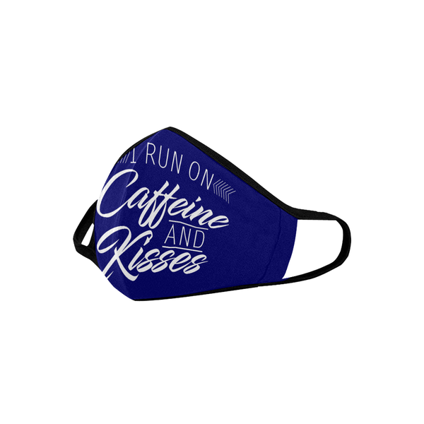 I Run On Caffeine And Kisses Washable Reusable Face Mask With Filter Pocket-Face Mask-JoyHip.Com