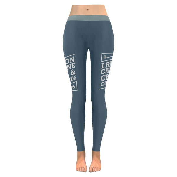 I Run On Caffeine Chaos & Cuss Words Humor Gag Funny Quote UPF40+ Women Leggings-JoyHip.Com