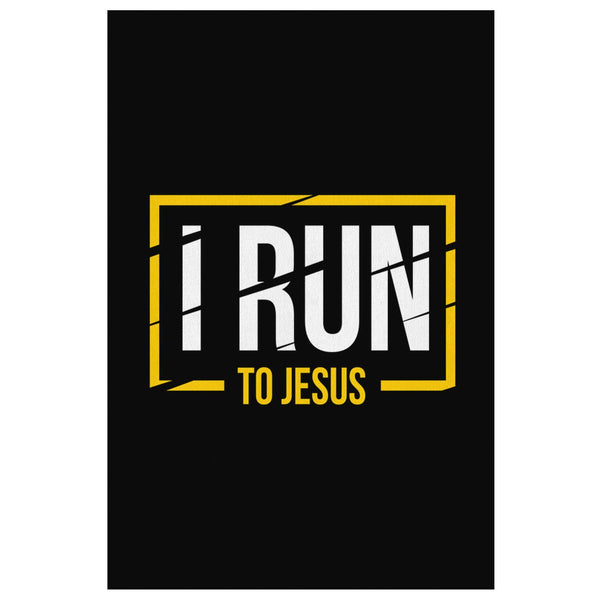 I Run To Jesus Christian Canvas Wall Art Room Decor Gift Religious Spiritual-Canvas Wall Art 2-8 x 12-JoyHip.Com