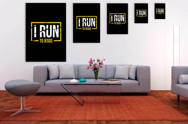 I Run To Jesus Christian Canvas Wall Art Room Decor Gift Religious Spiritual-Canvas Wall Art 2-JoyHip.Com