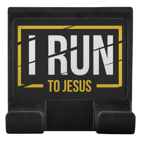 I Run To Jesus Christian Cell Phone Monitor Holder For Laptop Or Desktop Display-Moniclip-Moniclip-JoyHip.Com