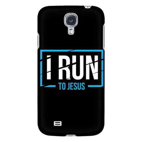 I Run To Jesus iPhone 6/6s/7/7s/8 Plus Case Christian Bible Verses Inspirational Scripture Quote-Phone Cases-Galaxy S4-JoyHip.Com