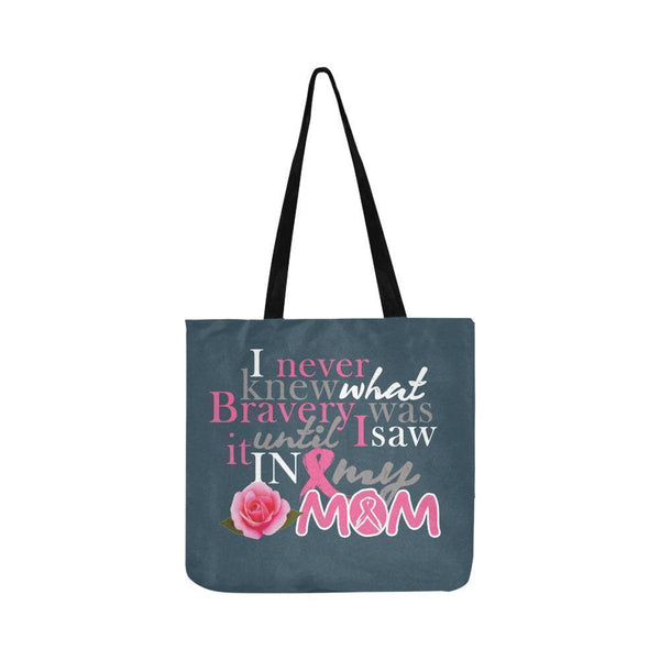 I Saw Bravery In My Mom Breast Cancer Awareness Pink Ribbon Reusable Produce Bag-One Size-Grey-JoyHip.Com