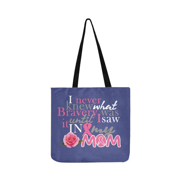 I Saw Bravery In My Mom Breast Cancer Awareness Pink Ribbon Reusable Produce Bag-One Size-Orchid-JoyHip.Com