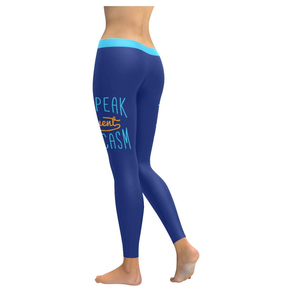 I Speak Fluent Sarcasm Soft Leggings For Women Cute Funny Sarcastic Gift Ideas-JoyHip.Com