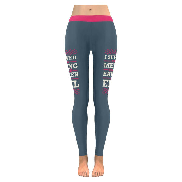 I Survived Another Meeting That Should Have Been An Email Funny Womens Leggings-JoyHip.Com