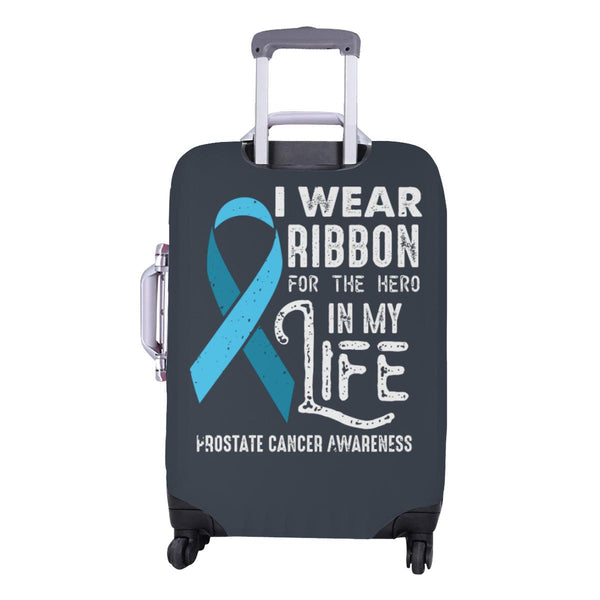 I Wear Ribbon For The Hero In My Life Prostate Cancer Travel Luggage Cover-JoyHip.Com