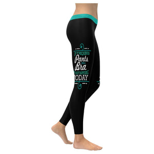 If It Requires Pants Or A Bra Its Not Happening Today Soft Leggings For Women-XXS-Black-JoyHip.Com